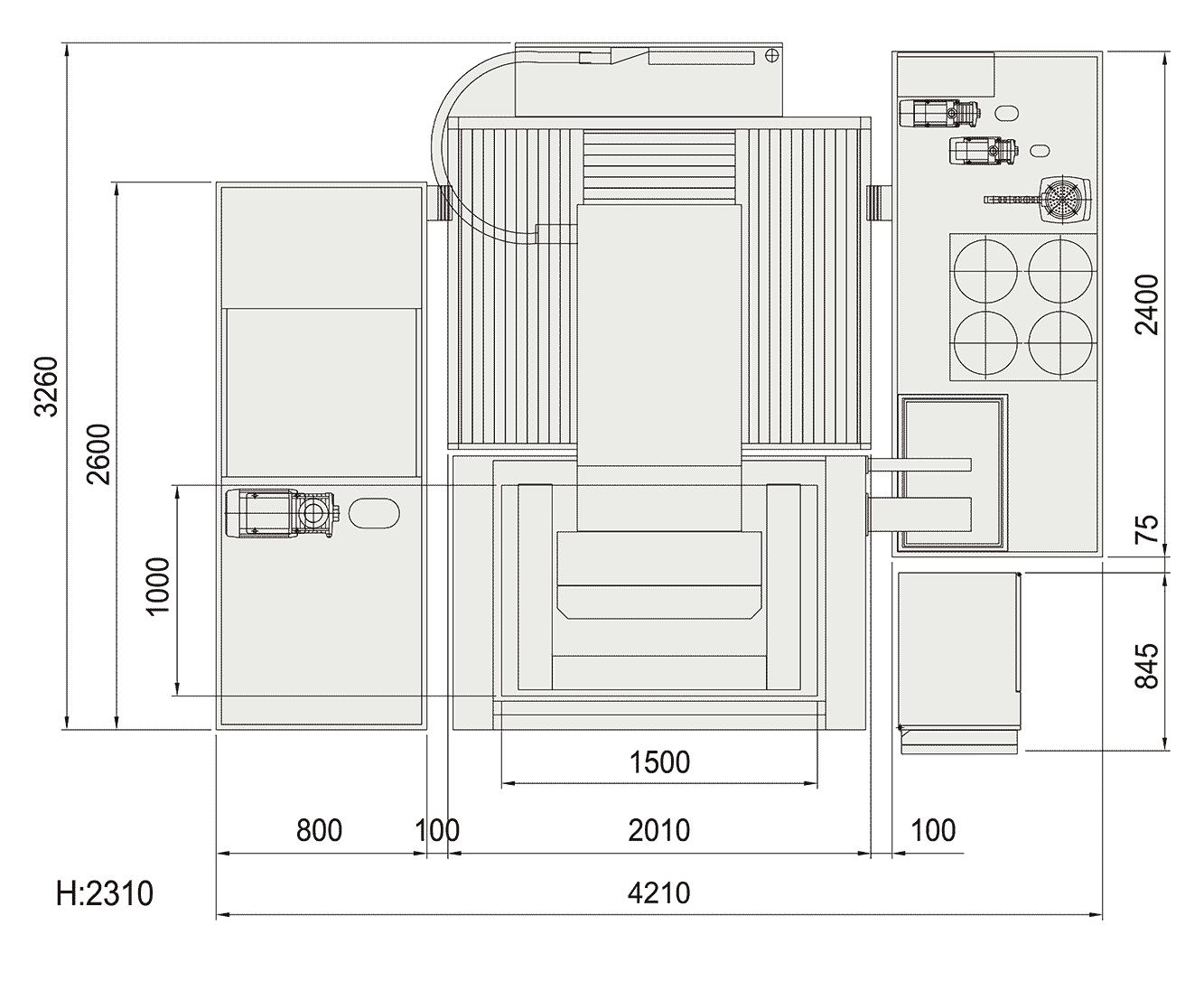 Excetek V1060 floorplan