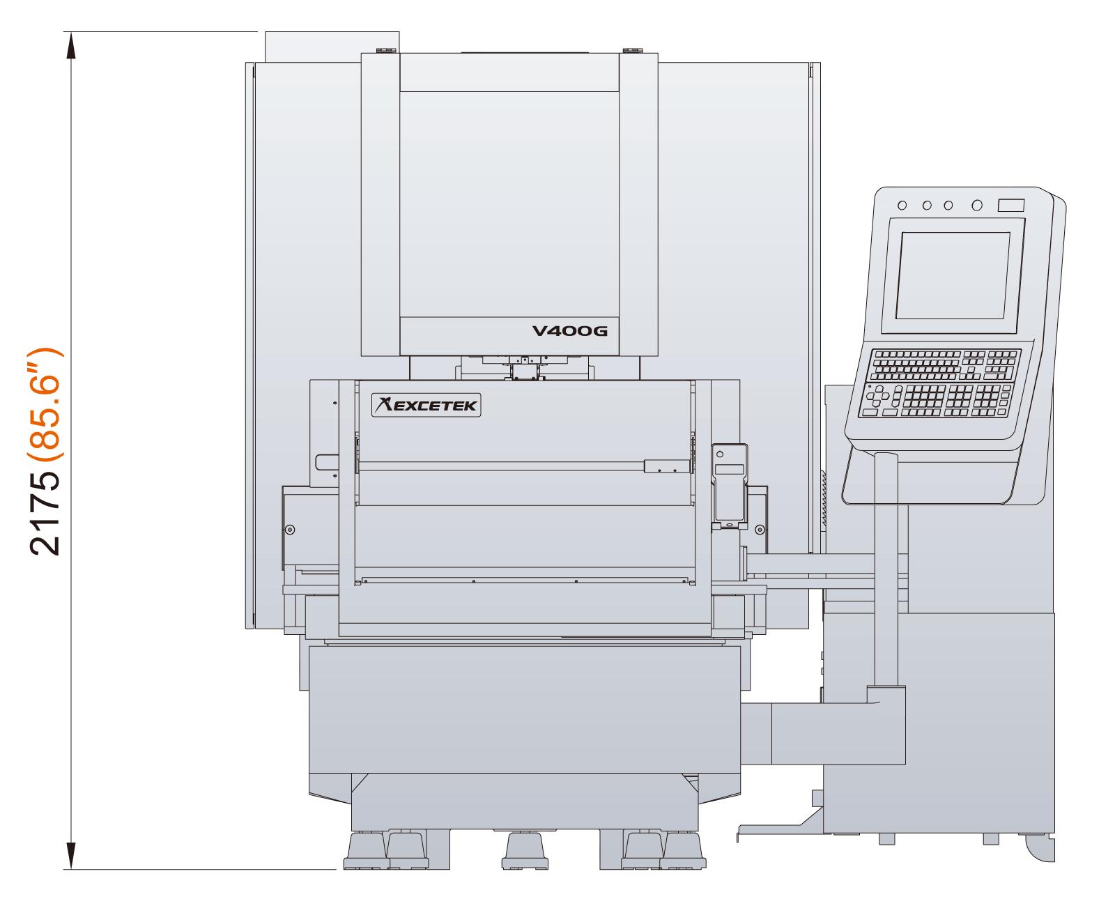 Excetek V400G dimensions