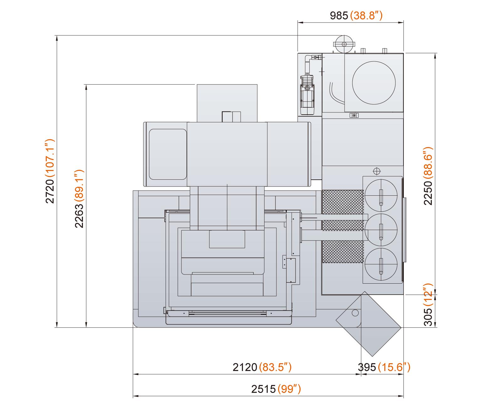 Excetek V650G dimensions