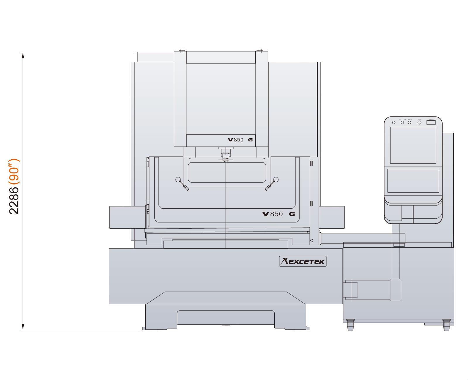 Excetek V850G dimensions